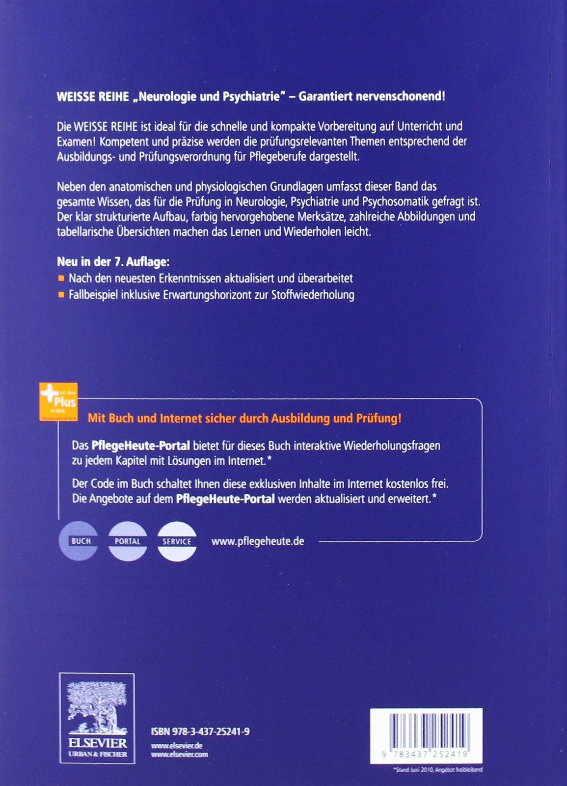 Neurologie und Psychiatrie: WEISSE REIHE - mit www.pflegeheute.de ...