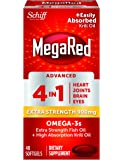 MegaRed Advanced 4in1 900mg, 40 softgels  - Concentrated Omega-3 Fish & Krill Oil Supplement