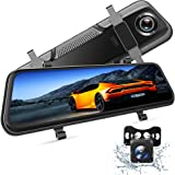 "VanTop H609 Dual 1080P Mirror Dash Cam with 10"" IPS Full Touch Screen w/Waterproof Backup Rear View Camera, Night Vision, Par"
