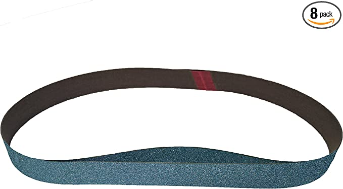"8 Pack 67832 Blue Zirconia Cloth 120 Grit Sanding Belts 1/""X30/"","