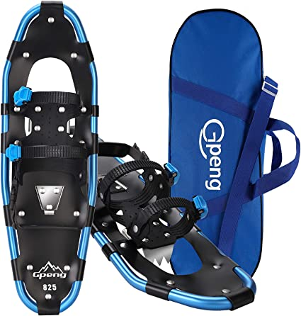 Outdoor Snow Shoes Lightweight Aluminum Alloy Snow Shoes with Adjustable Strap Ski Tote Bag,Snow Shoes Set for Adults Men Women Youth Kids Boys Girls 22//25//27