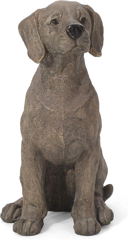 Christopher Knight Home 314361 Delphos Outdoor Dog Statue, Dark Brown