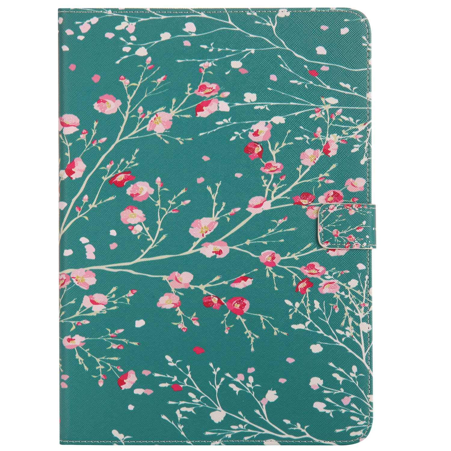 Bear Village iPad 2017 / iPad 2018 (9.7 Inch) Case, Anti Scratch Shell with Adjust Stand, Colorful Design Leather Stand Case for Apple iPad 2017 / iPad 2018 (9.7 Inch), Flower by Bear Village