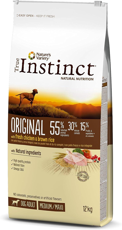 True Instinct Original - Nature's Variety - Pienso para Perros Adultos Medium-Maxi con Pollo - 12kg
