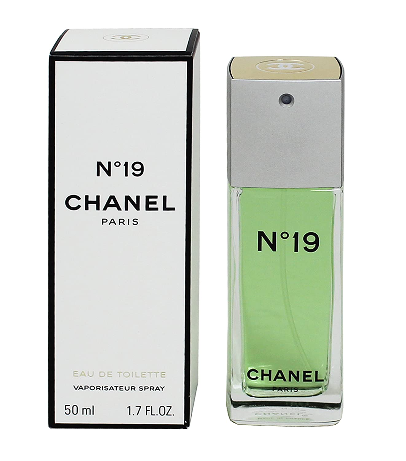 Amazon.com  Chanel No. 19 by Chanel for Women 1.7 oz Eau de Toilette ... 4b3a5fd765