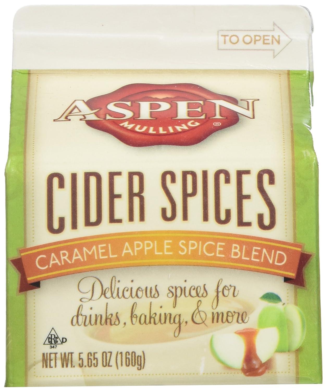 Aspen Mulling Cider Spice 3 Pack - Original Spice Blend - Qty of 3, 5.65 oz. Cartons (Caramel Apple)
