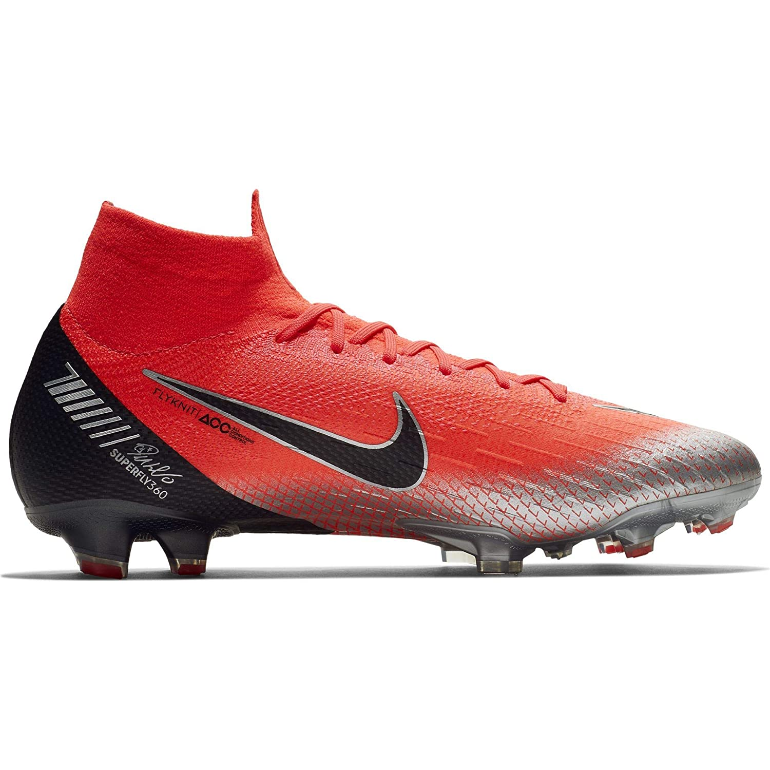 pretty nice d3fe3 66d12 Nike Men's Mercurial Superfly 360 Elite CR7 FG-Flash Crimson/Total  Crimson/Black