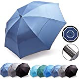 HOSA Auto Open Large Golf Umbrella Night Safety Reflective Strip   Windproof Waterproof UV Protection Anti-Slip Handle   for