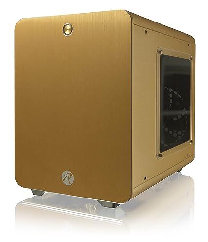 RAIJINTEK Metis Carcasa de Ordenador Mini-Tower Oro - Caja de Ordenador (Mini-Tower, PC, Aluminio, SPCC, Mini-ITX, Oro, Hogar/Oficina)