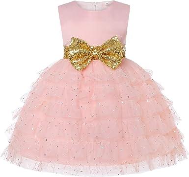 Baby Kids Girl/'s Dress Toddler Birthday Cute Big Bowknot Christening Dress 0-10 Years