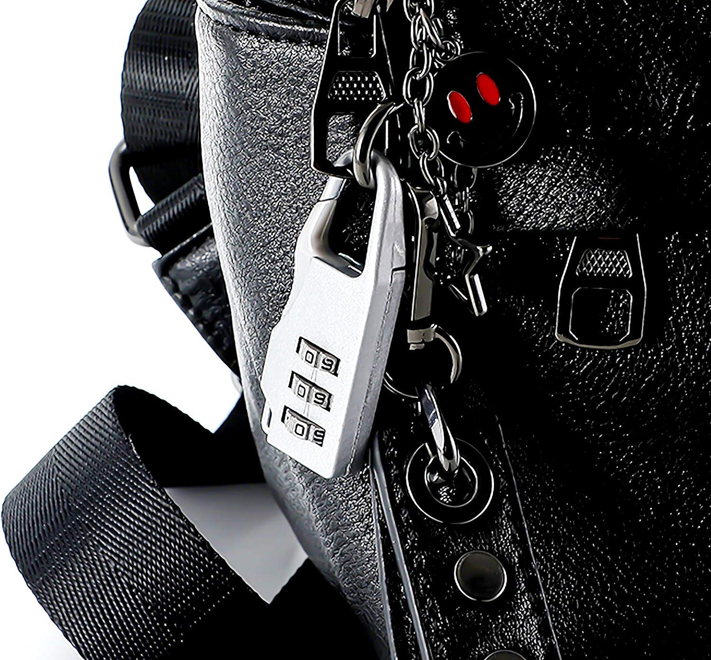 6 Pcs Mini Cerradura De Equipaje F/ácil de Cargar 3 D/ígitos Candado De Combinaci/ón Bloqueo para Bolsa de Viaje Maleta Mochila