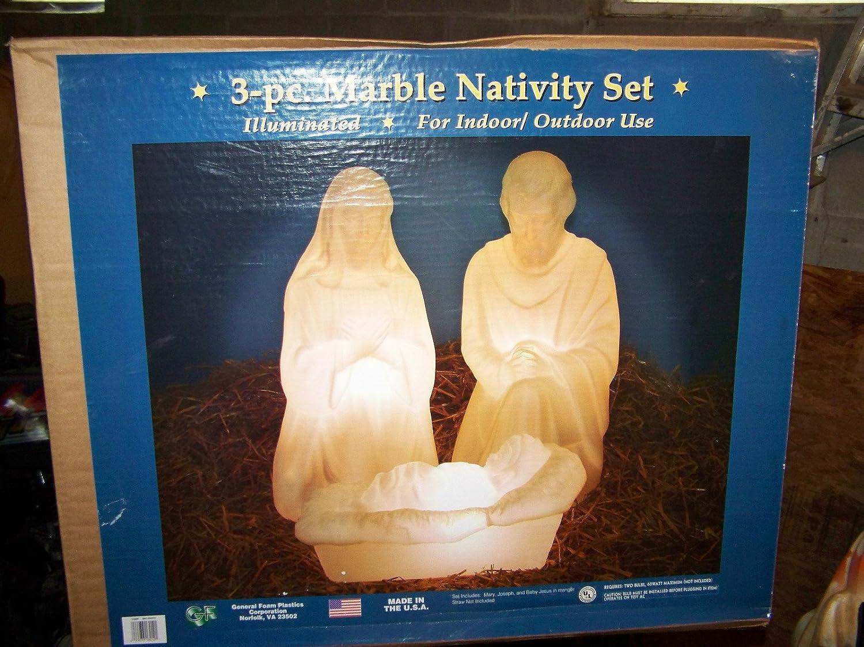 Outdoor Nativity Sets Lighted Amazon 28 nativity set w marble loo christmas decor amazon 28 nativity set w marble loo christmas decor garden outdoor workwithnaturefo