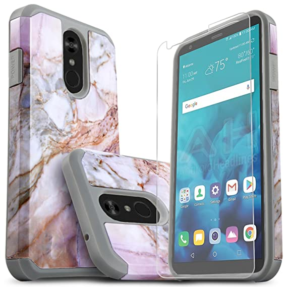 reputable site 54cdf a94f8 LG Stylo 4 Phone Case, LG Stylo 4 Plus Cases With [Premium Screen Protector  Included] Starshop Dual Layers Impact Advanced Protective Shock Absorption  ...