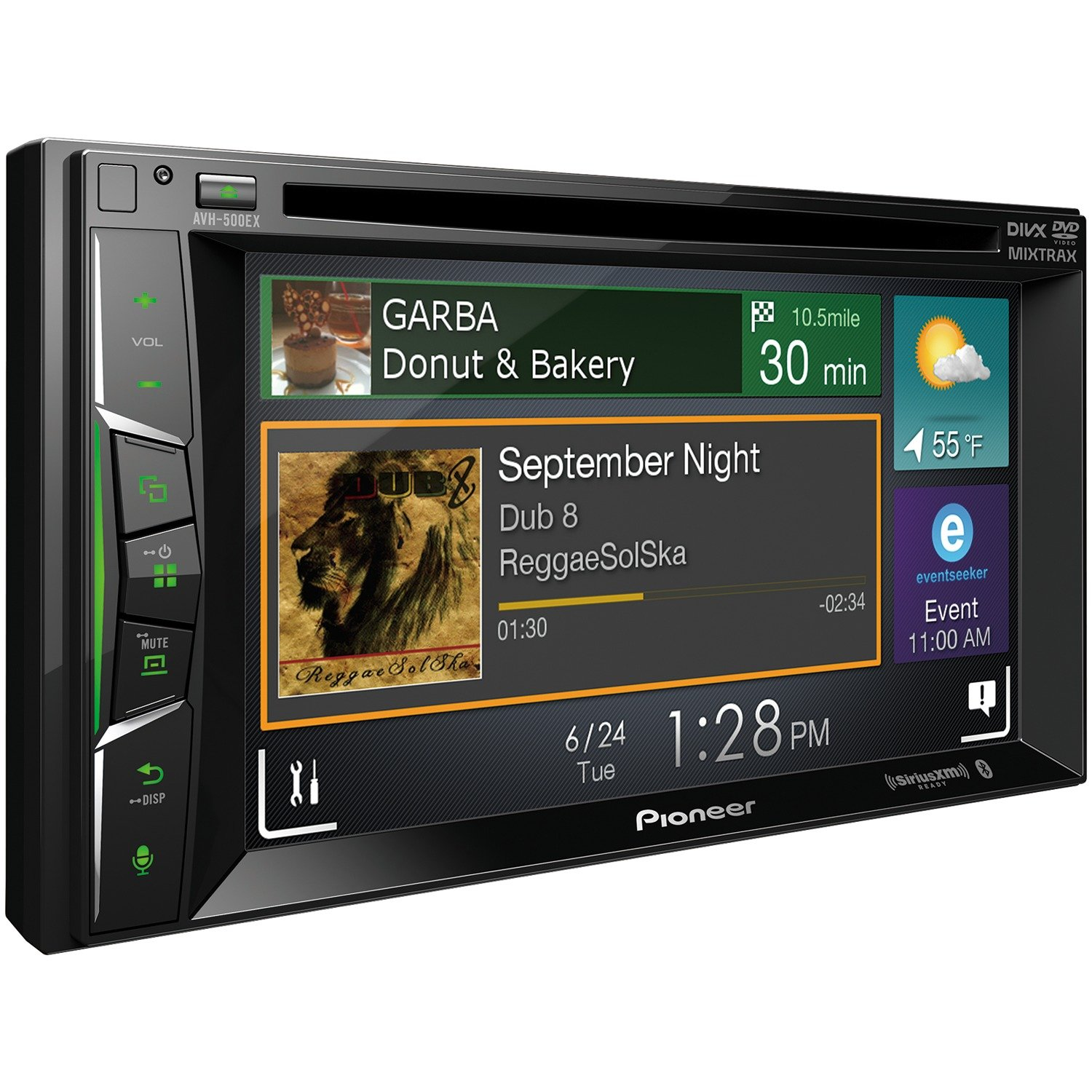 Pioneer AVH500EX 6.2 DVD Head Unit BLK by PIONEER