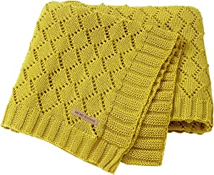 mimixiong Toddler Blankets Knitted Cellular Baby Blankets for Boys and Girls Ginger 40x30 Inch