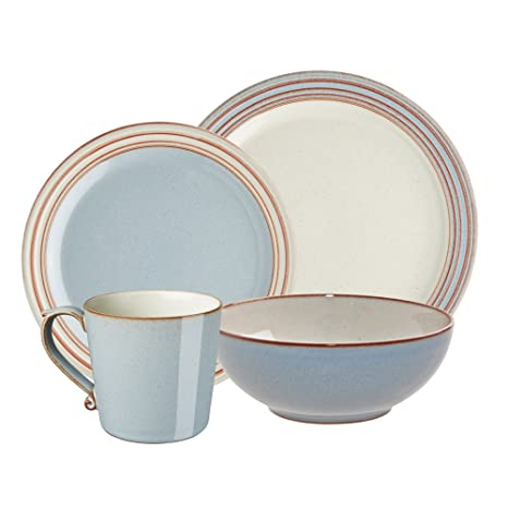Denby USA Heritage 4 piece Terrace Place Setting Dinnerware Set Multicolor  sc 1 st  Amazon.com & Amazon.com | Denby USA Heritage 4 piece Terrace Place Setting ...