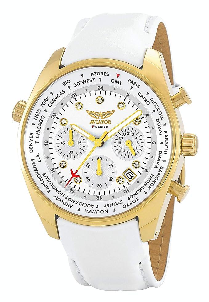 Aviator avw5839l211Ladies Mundial Ciudades Reloj