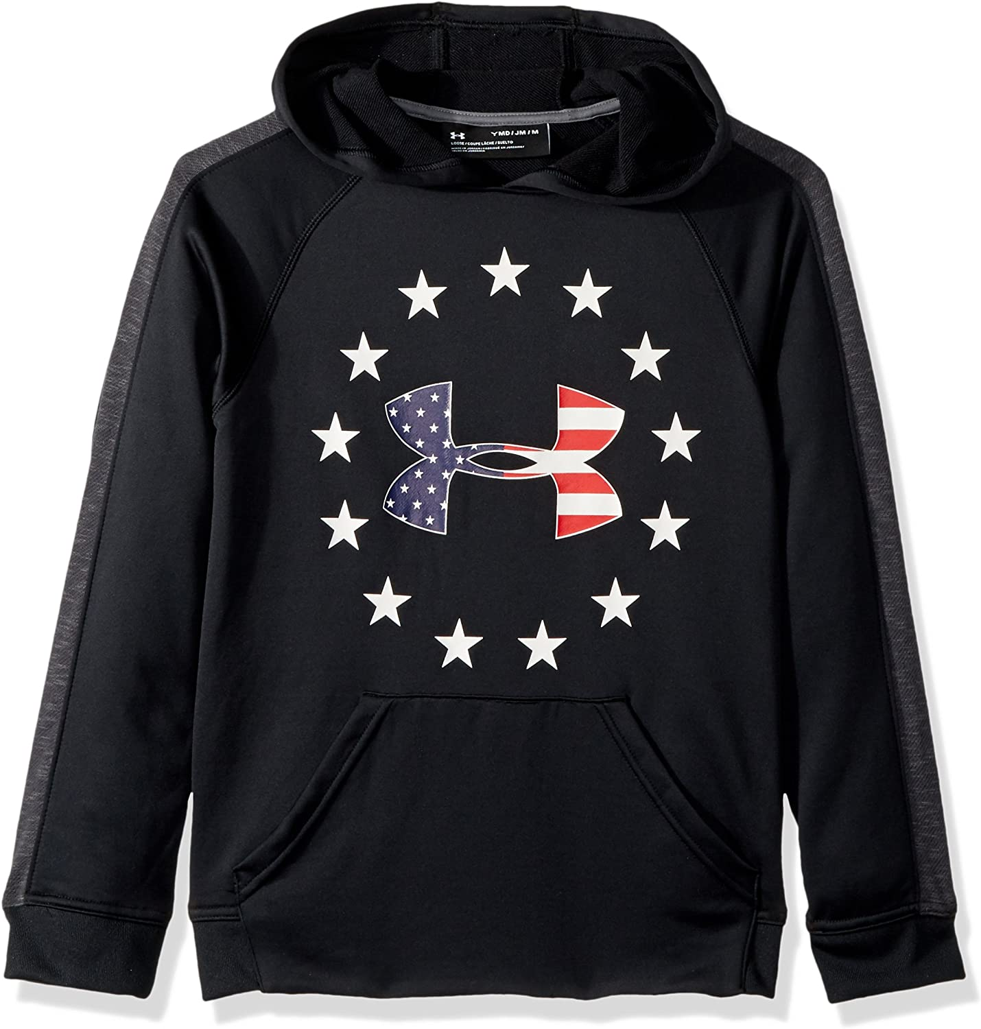 Black Under Armour Freedom Tech Terry Men/'s Hoodie NEW USA