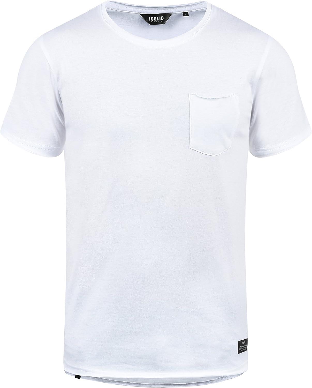 !Solid Andrej Camiseta Básica De Manga Corta T-Shirt para Hombre con Cuello Redondo De 100% algodón