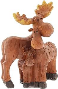 The Bridge Collection Moose Family of 3 Figurine