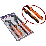 Paire de 250mm et 300mm de pinces coulissantes Tech Trader®, plombiers, pinces multiprises avec poignée en caoutchouc amortie