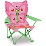 """Melissa & Doug Bella Butterfly Child's Outdoor Chair (Handy Cup Holder, Cleanable Materials, Carrying Bag, 23.7"""" H X 6.7"""" W X 6.7"""" L, Frustration-Free Packaging)"""