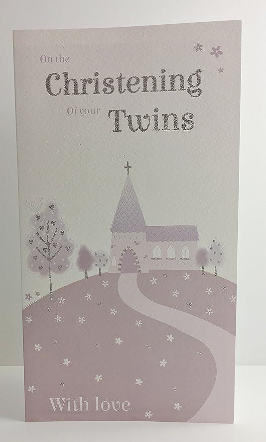 Twins - Tarjeta de felicitación para bautizo Niños o Niñas ...