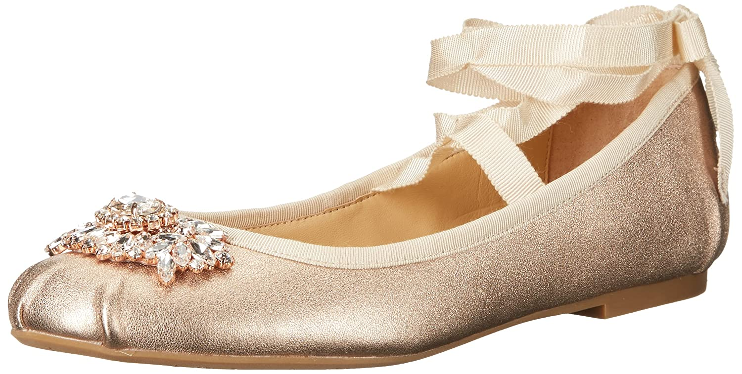 Badgley Mischka Women's Karter II Ballet Flat B01MUXF7O1 9 B(M) US|Rose Gold
