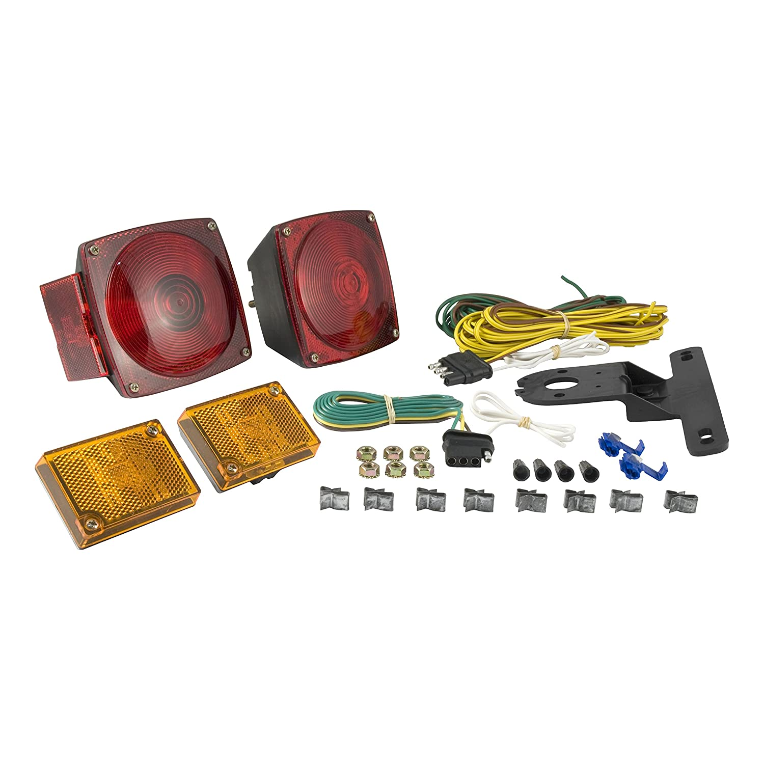81Yho8uSr4L._SL1500_ amazon com curt 53540 trailer light kit automotive Plug in Trailer Wiring Kits at mifinder.co
