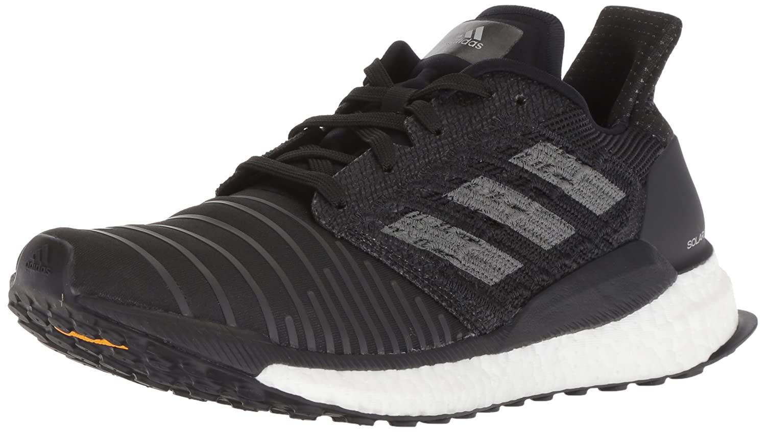adidas Women's Solar Boost Running Shoe B0778X1SVZ 5 B(M) US|Black/Grey/White