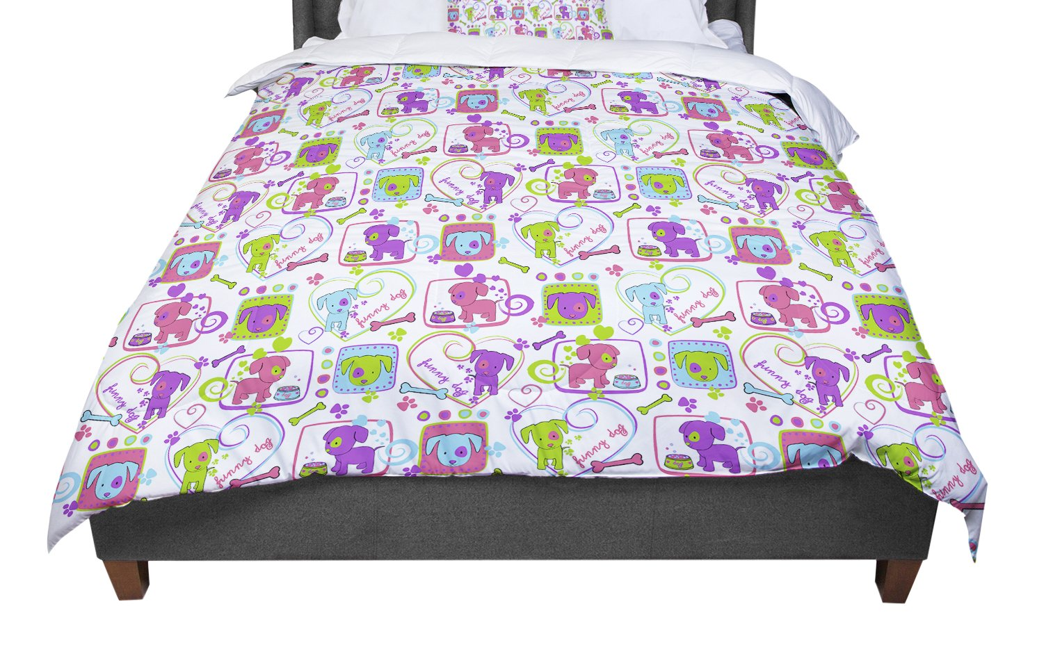 KESS InHouse Julia Grifol My Loving Dogs Queen Comforter 88 X 88