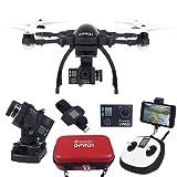 TecTecTec Drone DPRO1 - Pack Ultracomplet avec Drone, Télécommande, Montre GPS, Housse Luxe, Batterie…