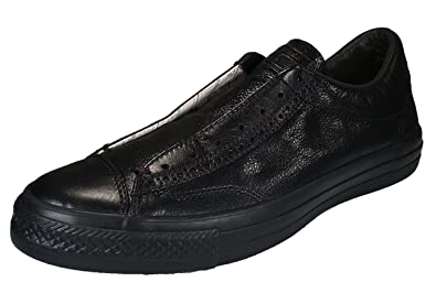 39e1be313a81c6 Converse by John Varvatos Leather Vintage Slip On Sneaker Black Mono (8.5  Women   6.5