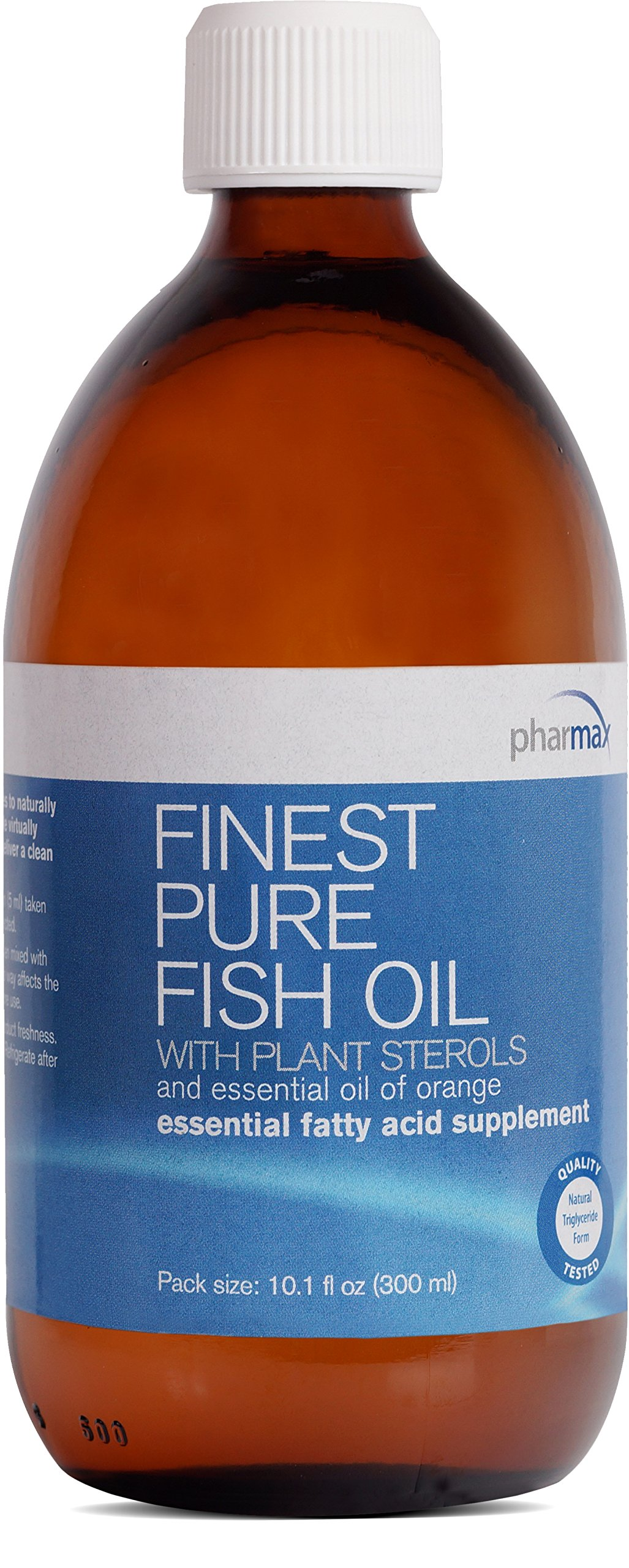 Pharmax - Finest Pure Fish Oil - with Plant Sterols and Essential Oil of Orange to Support Optimal Cardiovascular Health* - 10.1 fl oz (300 ml)