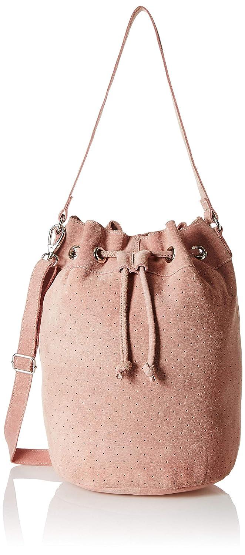Pink Tresori Women's Real Leather Bucket Bag
