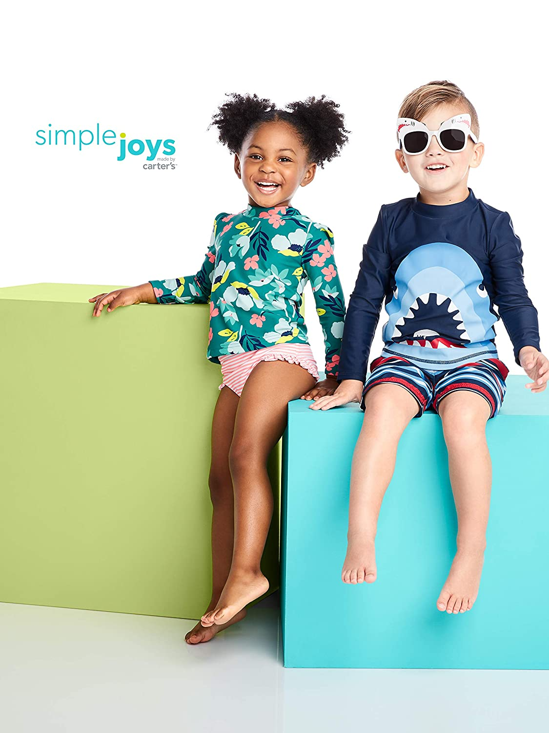 Simple Joys by Carters Baby and Toddler Girls 2-Piece Rashguard Set