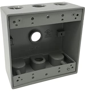 Amazon.com: Sealproof 1-Gang 3 1/2-Inch Holes Weatherproof ... on outlet box specs, outlet box assembly, cable box wiring diagrams, junction box wiring diagrams, wall outlet wiring diagrams, outlet box dimensions,