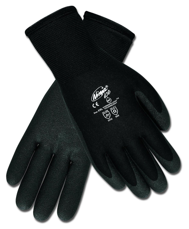 メンフィスn9690 Ninja Ice手袋、HPTコーティング手のひらと指、デュアルLayered : 15ゲージナイロンシェルと7ゲージテリーライナー、HPTコーティング液体、柔軟に反発-58華氏、12ペアLarge B00NT910D0