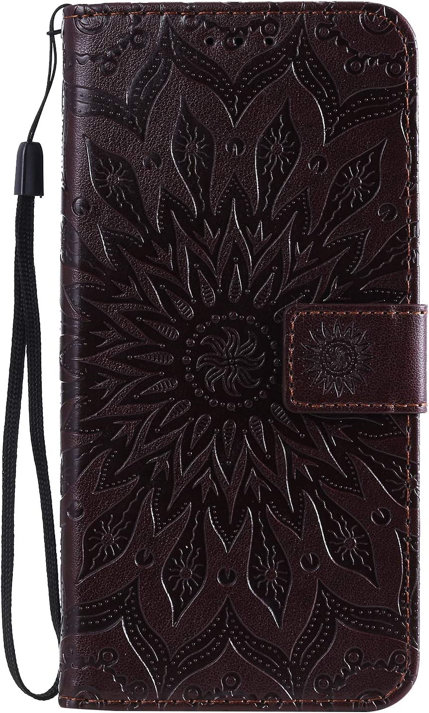 Shockproof Leather Flip Cover Case for Huawei Mate30 NEKTU020534 Brown NEXCURIO Wallet Case for Huawei Mate 30 with Card Holder Side Pocket Kickstand