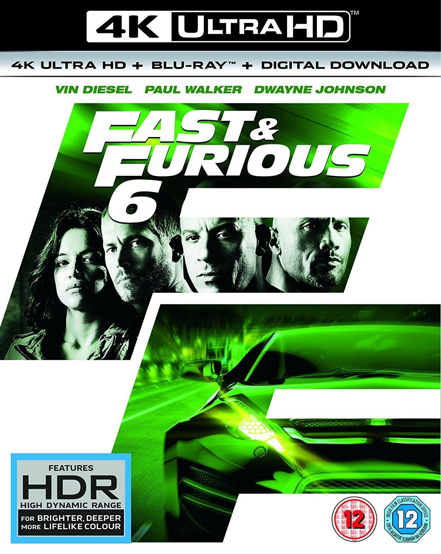 Amazon Com Fast Furious 6 4k Uhd Blu Ray Blu Ray 2013 Vin Diesel Paul Walker Jason Statham Michelle Rodriguez Movies Tv
