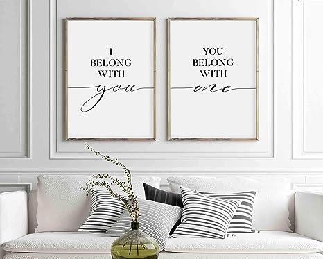 Amazon Com Timprint I Belong With You You Belong With Me Sign
