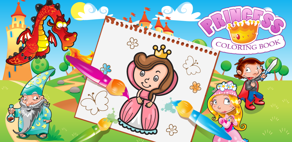 Amazon.com: Princess Coloring Book for kids, coloring game for girls ...