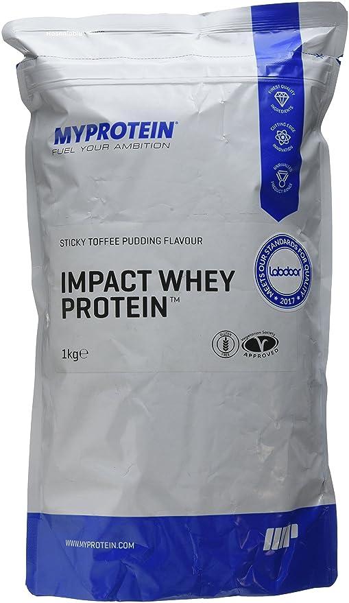 MyProtein Impact Whey Proteína de Suero, Sabor Pastel de Toffee - 1000 gr