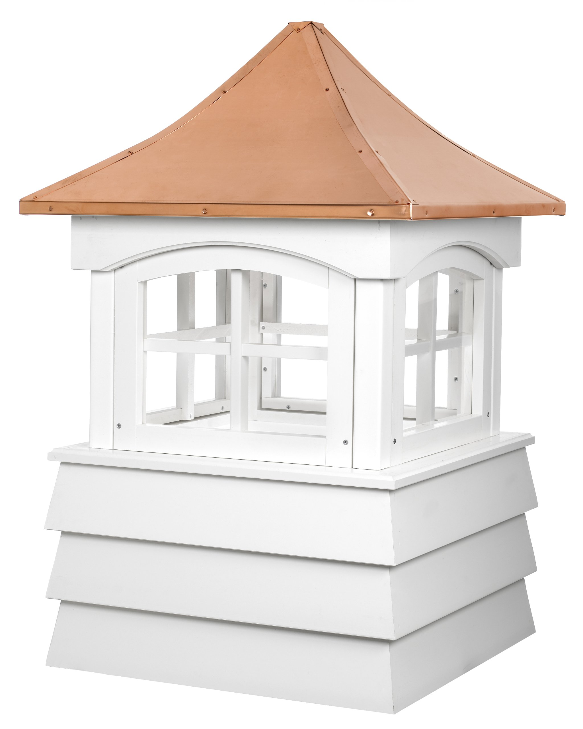 Good Directions Guilford Vinyl Cupola with Copper Roof, 30'' x 49''