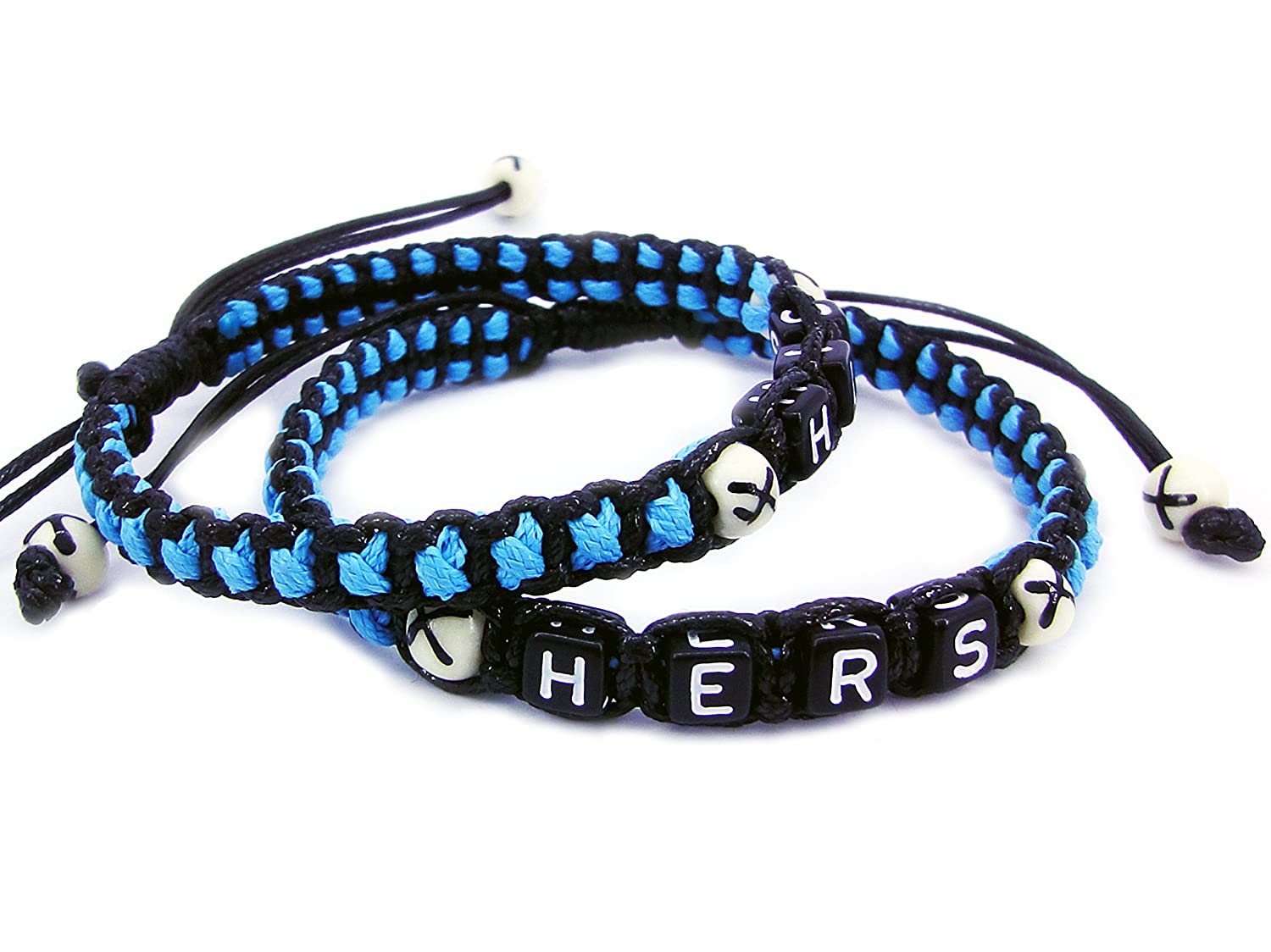 Amazon.com: His and Hers Couple Bracelets Matching Handmade ...