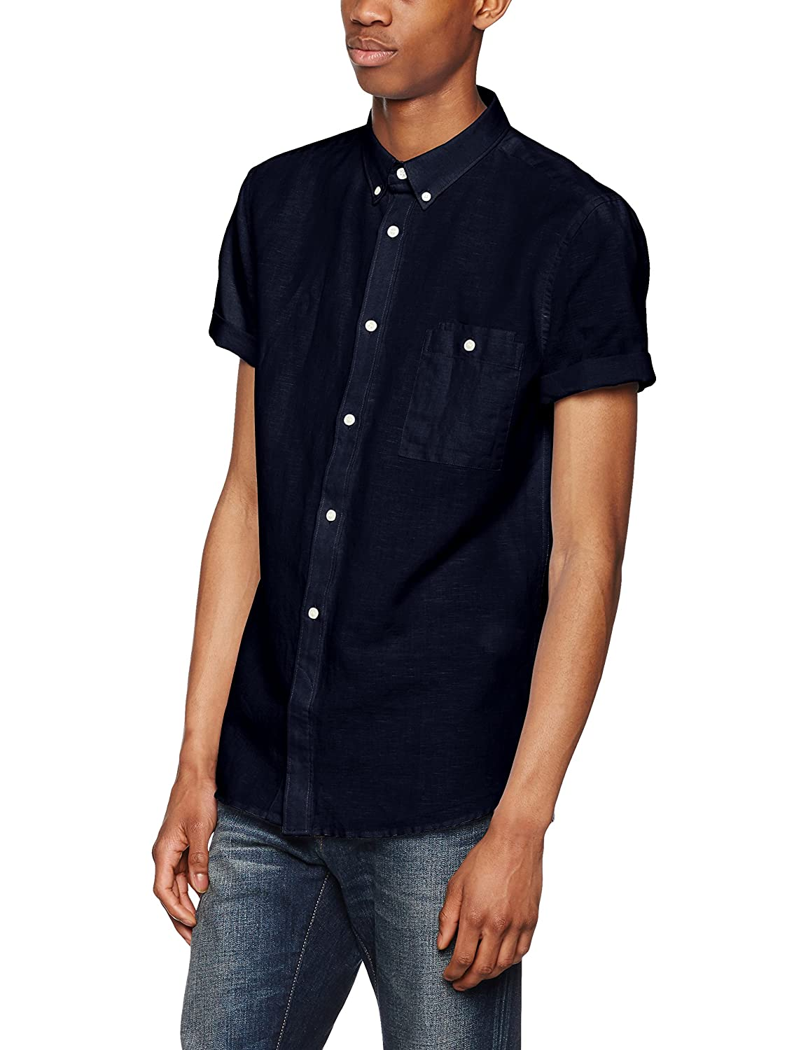 TALLA L. French Connection Summer Soft Camisa para Hombre