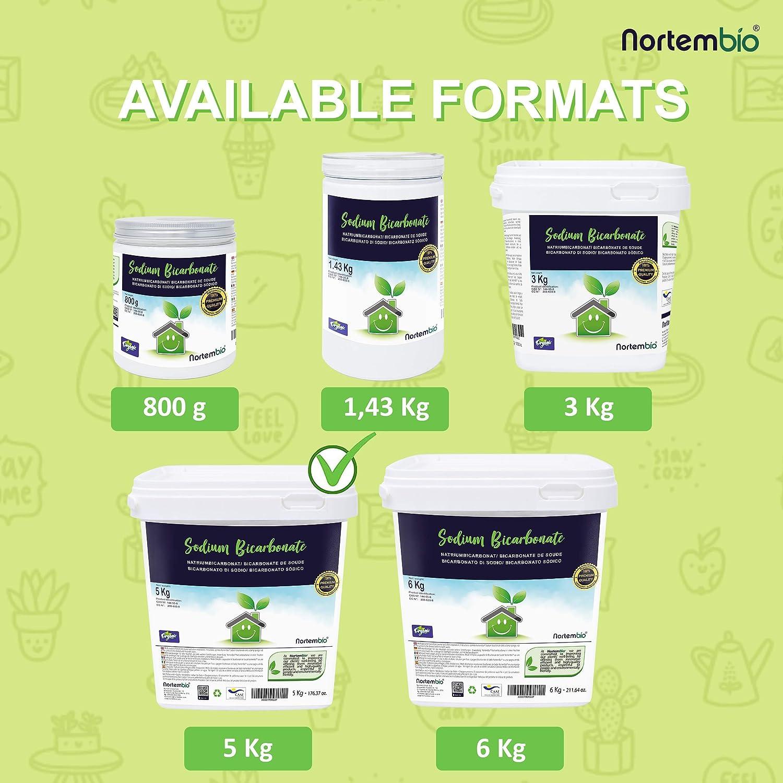 NortemBio Bicarbonato de Sodio 5 Kg, Insumo Ecológico de Origen ...