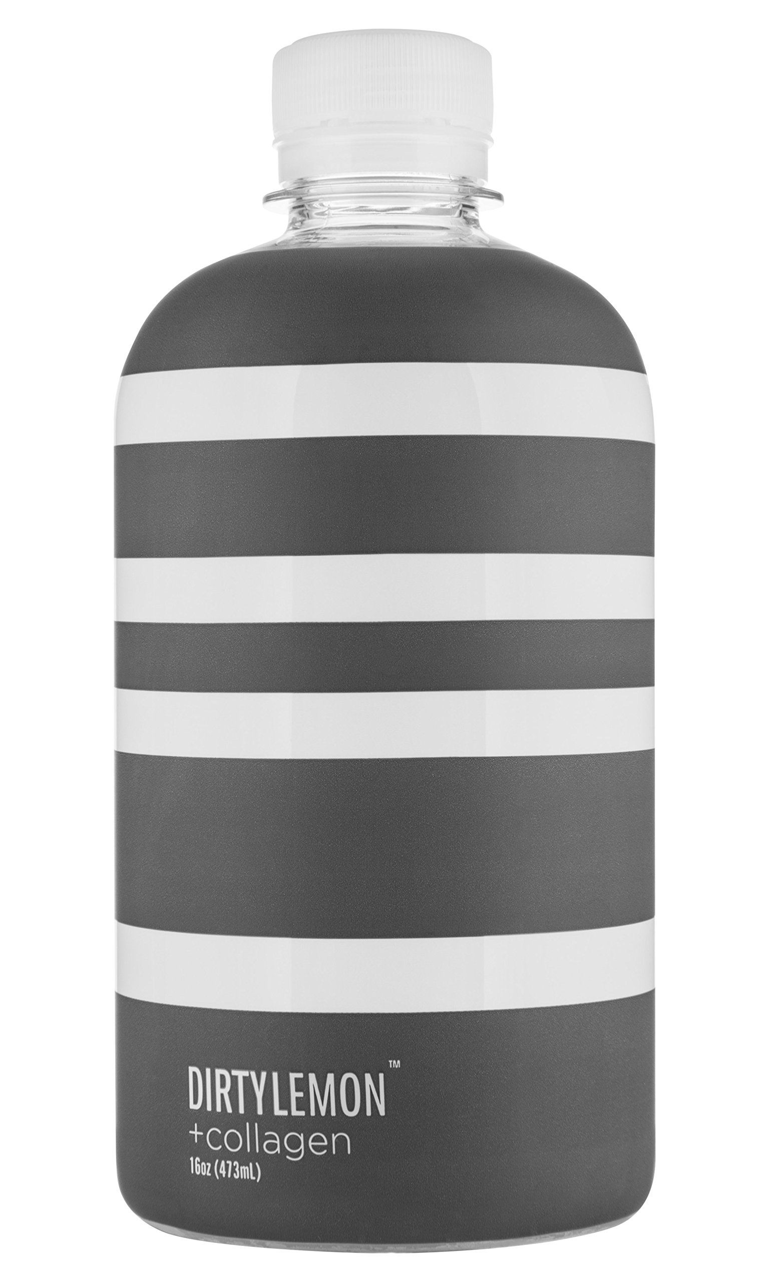 DIRTY LEMON +collagen Beauty Elixir, 16 oz Bottles, (Case of 6)