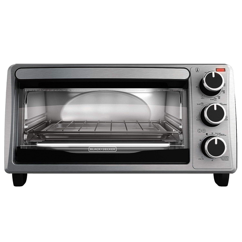 BLACK DECKER 4-Slice Toaster Oven, Stainless Steel, TO1303SB Renewed