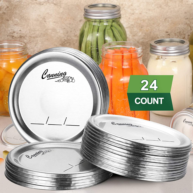 AOZITA 24-Count Regular Mouth Canning Lids $5.94 Coupon
